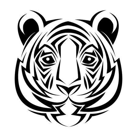 Tiger Tribal Tattoo Animal Creativity Design Vector Illustration