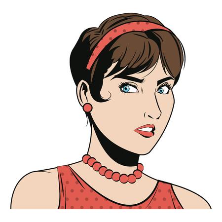 beautiful woman in the comics style. vector illustration. Illustration