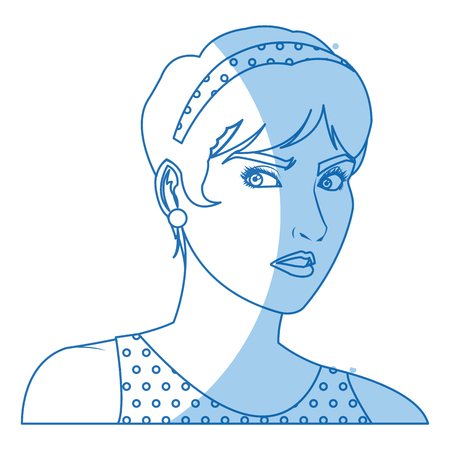 beautiful woman in the comics style. vector illustration. Illustration