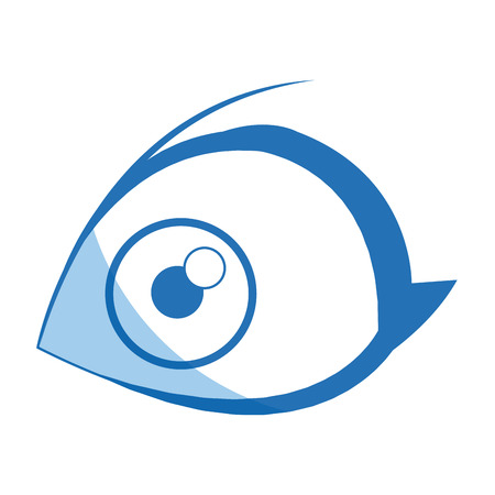 cartoon eye human look watch icon vector illustration