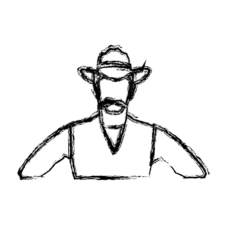 herder: Portrait man in cowboy hat.