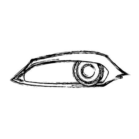 sneaky: Cartoon eye human look watch icon vector illustration.