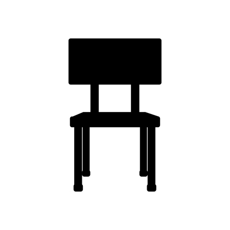 school chair equipment wooden metal vector illustration