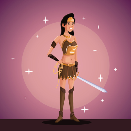 stage makeup: indian warrior in costume party in spotlight background with bright vector illustration Illustration