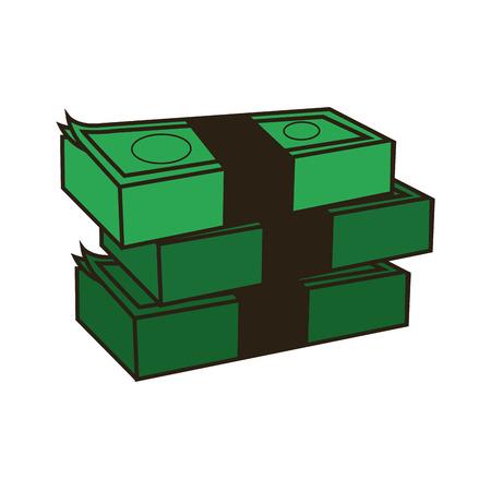 abundance: stack of money, abundance bank business vector illustration Illustration