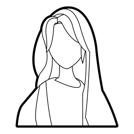 catholicism: saint virgin mary religion catholic image vector illustration