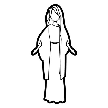 patron: saint virgin mary religion catholic image vector illustration