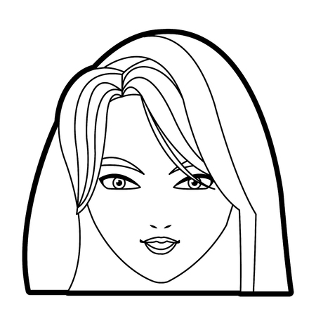 immaculate: holy virgin mary cartoon face icon vector illustration