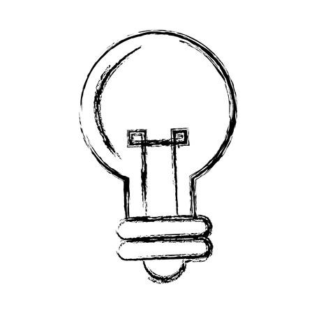 cartoon bulb light creativity illumination vector illustration