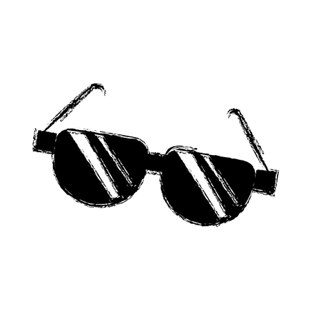 cartoon sunglasses acessory fashion optical image vector illustration Illustration