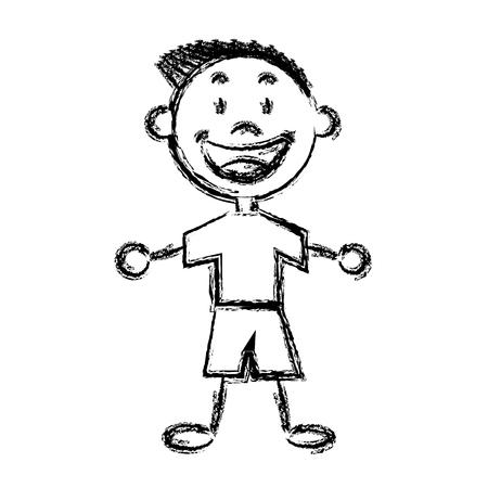 asian family fun: cartoon boy child young happiness image vector illustration Illustration