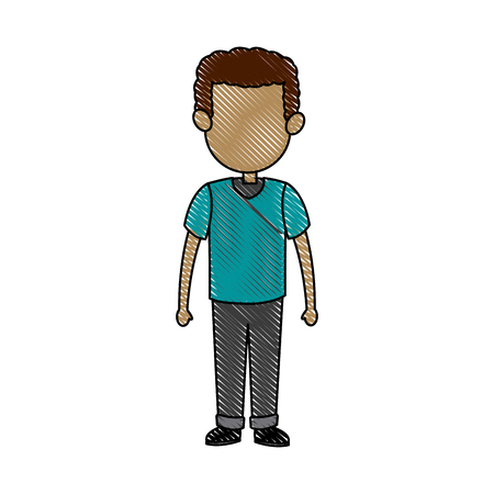 group of young adults: father dad male member of family vector illustration