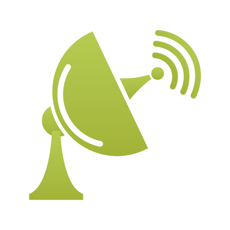 satellite antenna communication signal technology icon vector Illustration