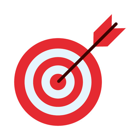 bullseye with dart icon image vector illustration design  イラスト・ベクター素材