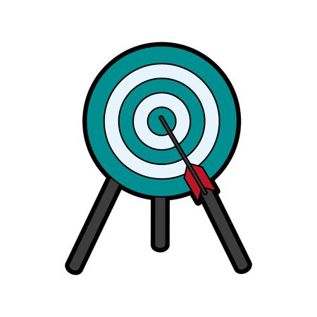 advantages: bullseye with dart icon image vector illustration design Illustration