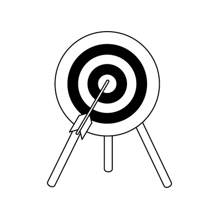 objetivo: bullseye with dart icon image vector illustration design Vectores