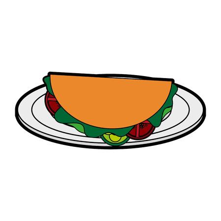 taco fast food icon image vector illustration design