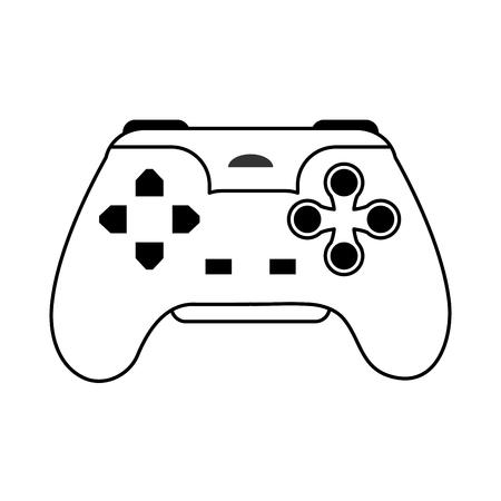 obsession: videogame controller icon image vector illustration design  single black line