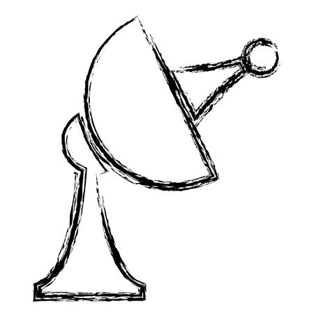 transmit: satellite antenna communication broadcast signal image vector illustration
