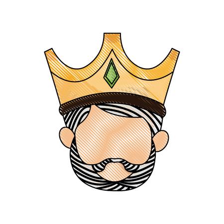 wise king manger character catholic image vector illustration Illustration