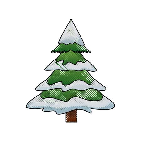 Ilustración De Vector De Ornamentos De árbol De Navidad Pino