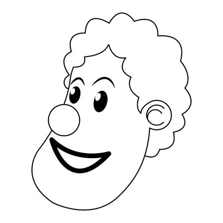costume ball: character clown circus juggler cheerful image vector ilustration