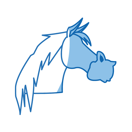 horse animal farm domestic strong image vector illustration Illustration