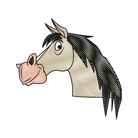 horse animal farm domestic strong image vector illustration Illustration