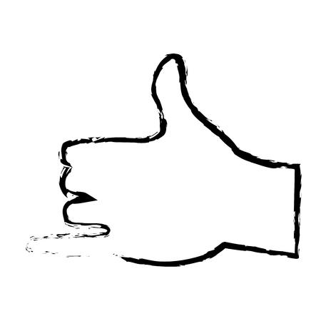 artoon: hand man shaka surfing gesture icon vector illustration