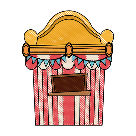 ticket booth at the carnival entrance image vector illustration