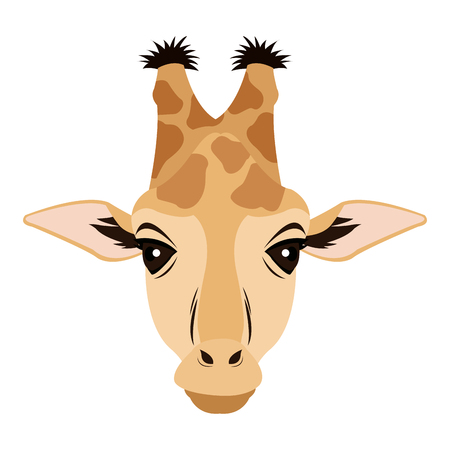 giraffe african animal safari zoo vector illustration