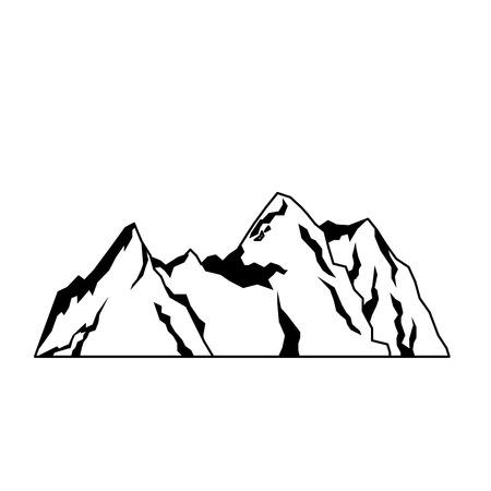 mountain rock nature landscape tourism vector illustration