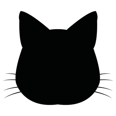 silhuette: silhuette cat feline head whiskers image vector illustration