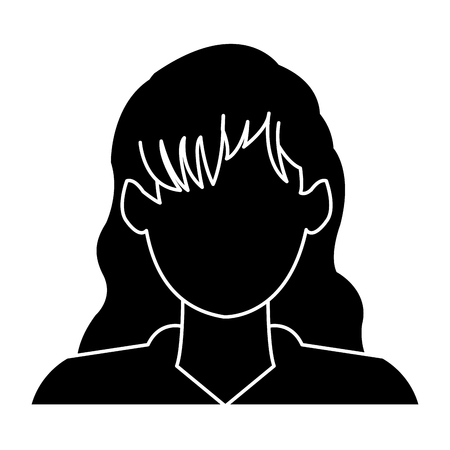 profile avatar user icon - woman, female people vector illustration