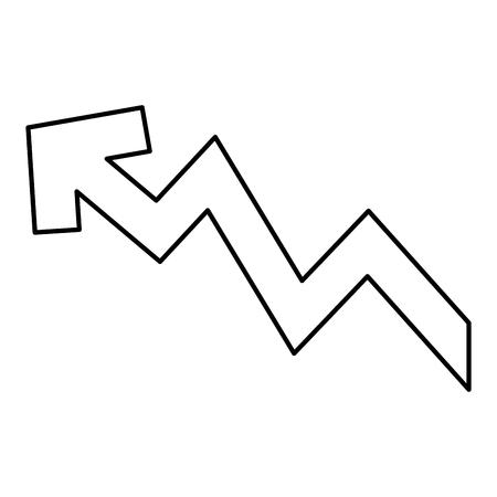 上昇の矢印。増加、価格、投資概念ベクトル図  イラスト・ベクター素材