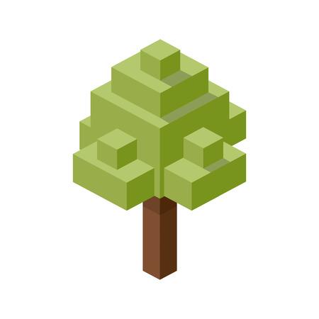 Baum Kunststoff Bau Block Lego. Bau Puzzleteile Vektor-Illustration Vektorgrafik