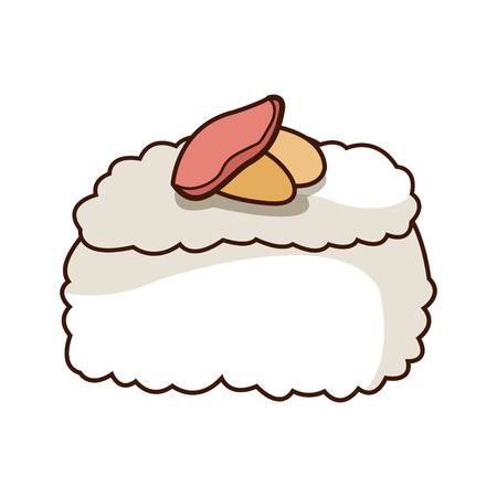 chinese food container: chinese traditional food sushi style vector illustration Illustration