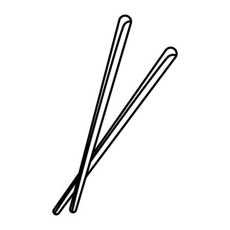 pair of chopsticks element japan food image vector illustration