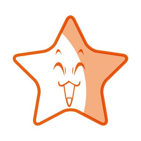 かわいい星の面白いキャラ絵文字画像ベクトル イラスト  イラスト・ベクター素材