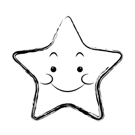 星の面白いキャラ絵文字画像ベクトル イラスト
