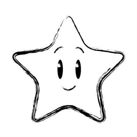 star funny character emoticon image vector illustration