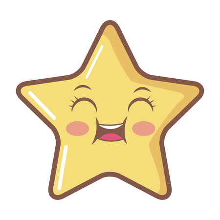star funny cartoon character icon vector illustration Illustration