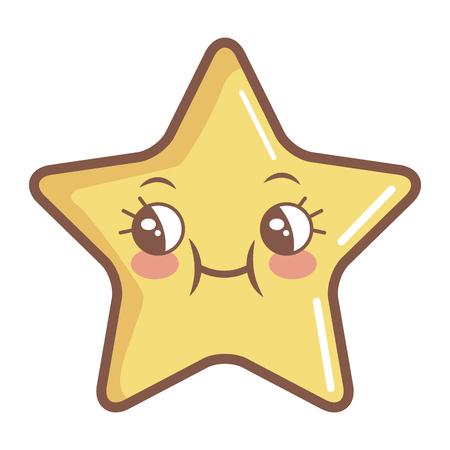 星の面白い漫画キャラ アイコン ベクトル イラスト