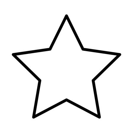 star funny comic cartoon decoration icon vector illustration Illustration