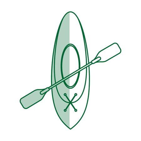 Team canoes flat illustration vector design icon graphic shadow