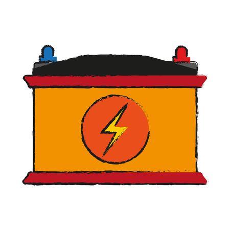 battery flat illustration icon vector design graphic Illustration