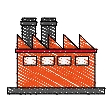 factory cartoon flat illustration icon vector design graphic scribble Illustration
