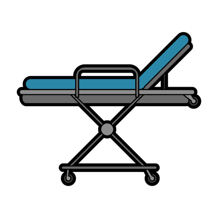 gurney: hospital bed or gurney healthcare related icon image vector illustration design