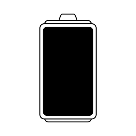 simple life: small battery icon image vector illustration design