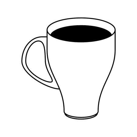 coffee beans: coffee beverage in mug icon image vector illustration design